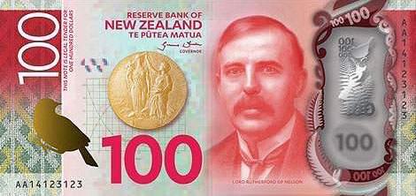 Новая Зеландия банкнота 100 долларов 7 серия 2016