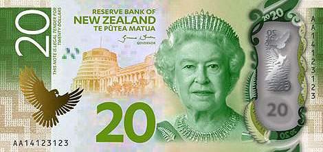 Новая Зеландия банкнота 20 долларов 7 серия 2016